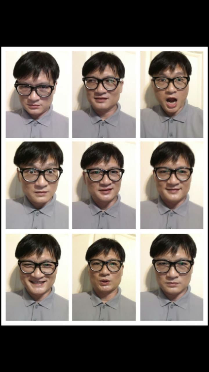 eyeglasses, multiple image, front view, variation, glasses, one person, human face, smiling, real people, looking at camera, making a face, young adult, headshot, happiness, portrait, young women, communication, women, human body part, collage, indoors, close-up, day, adult, people