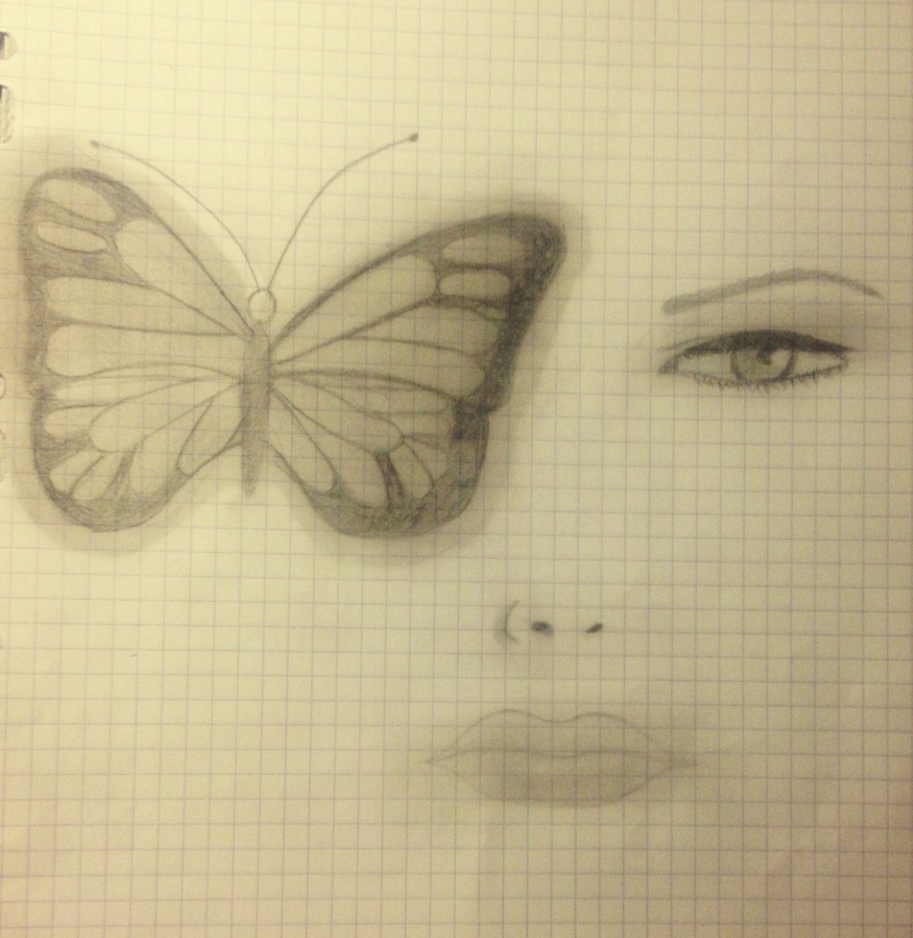 Pencil Drawing Love Drawing ❤ Beautiful Girl Mysterious Butterfly EyeEm Natural Beauty EyeEm Best Shots