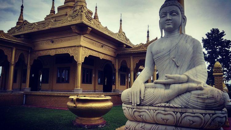 Golden Pagoda Buddhist Architecture Monestry Spirituality