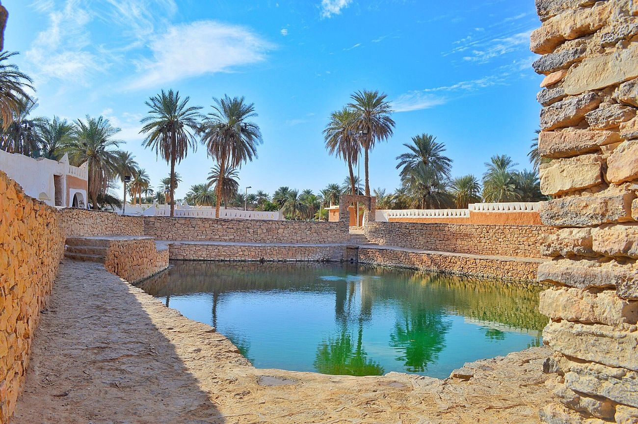 Libya Ghadamis Sunlight ☀ Shadows Eye Horse Heritage HeritageVillage Lake Pool Lakeview Snapseed Nikon D3200 Spring Water Palm Trees Archaeological Water Reflections In The Water Enfras ليبيا غدامس Stones Wall Oldcity Sky Ghadames Spring Lake