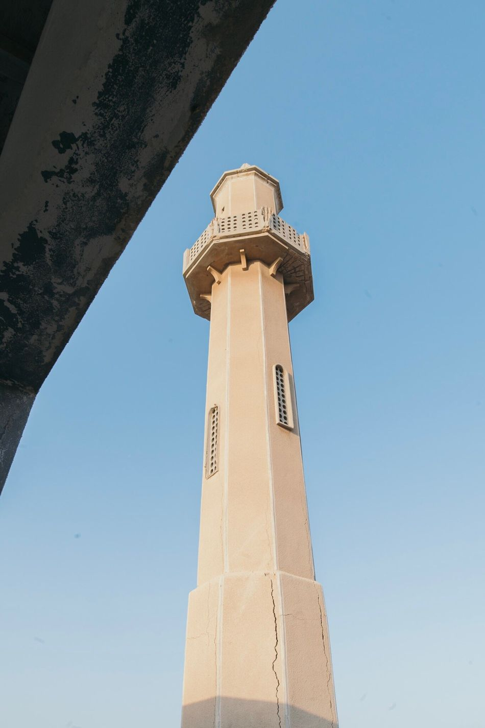 Low Angle View Architecture Built Structure Clear Sky Tower Building Exterior Day Sky No People Outdoors Place Of Worship Mosque Abandoned United Arab Emirates Ghost Town