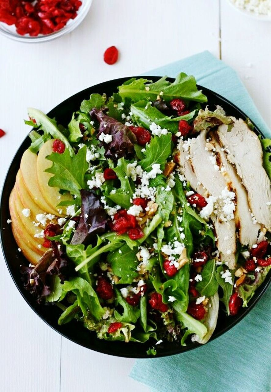 salad, healthy eating, freshness, food and drink, food, vegetable, no people, bowl, ready-to-eat, feta cheese, greek food, indoors, close-up, lettuce, pomegranate, salad bowl, pomegranate seed, fruit, vegetarian food, day