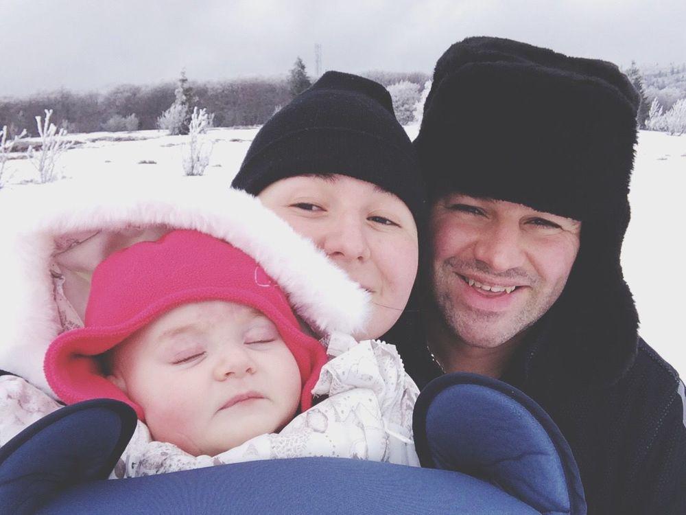 Family Winter Snow Selfie Portrait