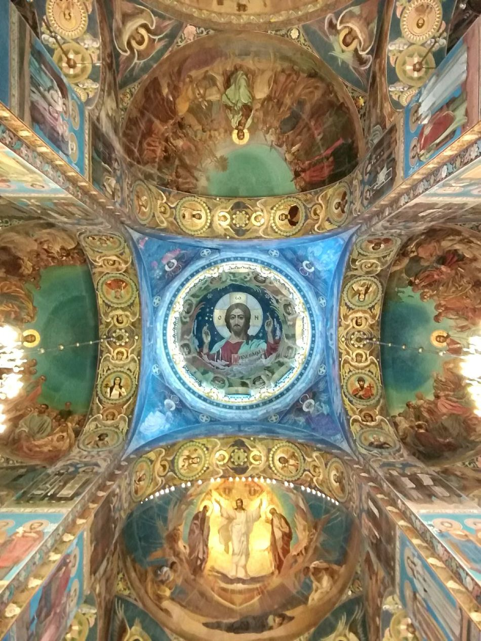 Roof Mosaic Art Russia, St.Petersburg Religion Art And Craft Place Of Worship СпасНаКрови