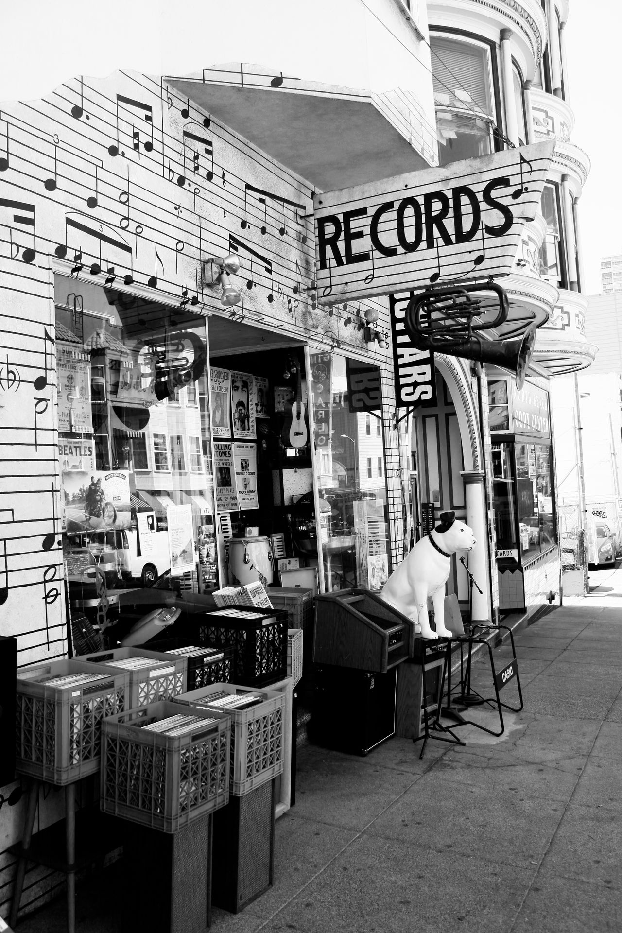 Housemusic Adult Architecture Building Exterior Built Structure Cafe Chair City Day Frisco Housemusic Keynote Leisure Activity Outdoors People Record Shop Record Store San Francisco Score Scoreboard Table