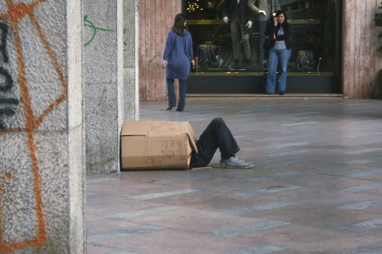 The Street Photographer - 2017 EyeEm Awards Outdoors Men Palermo Shooting Palermo, Italy Poverty Poverty Lives. Povertà Scatola Box ManInABox