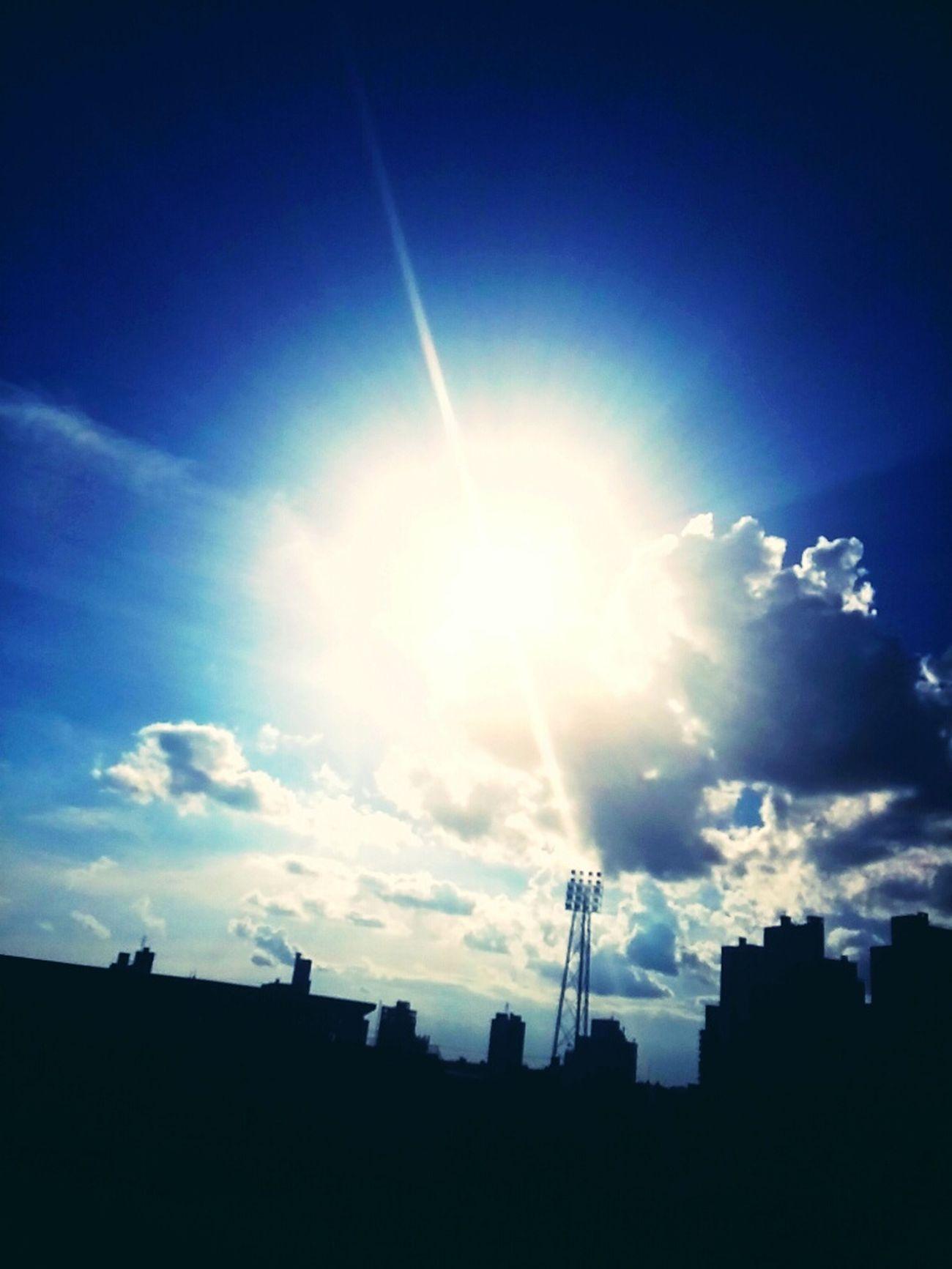 Sol lindo q nos acompanhou durante o jogo da chapecoense hehe