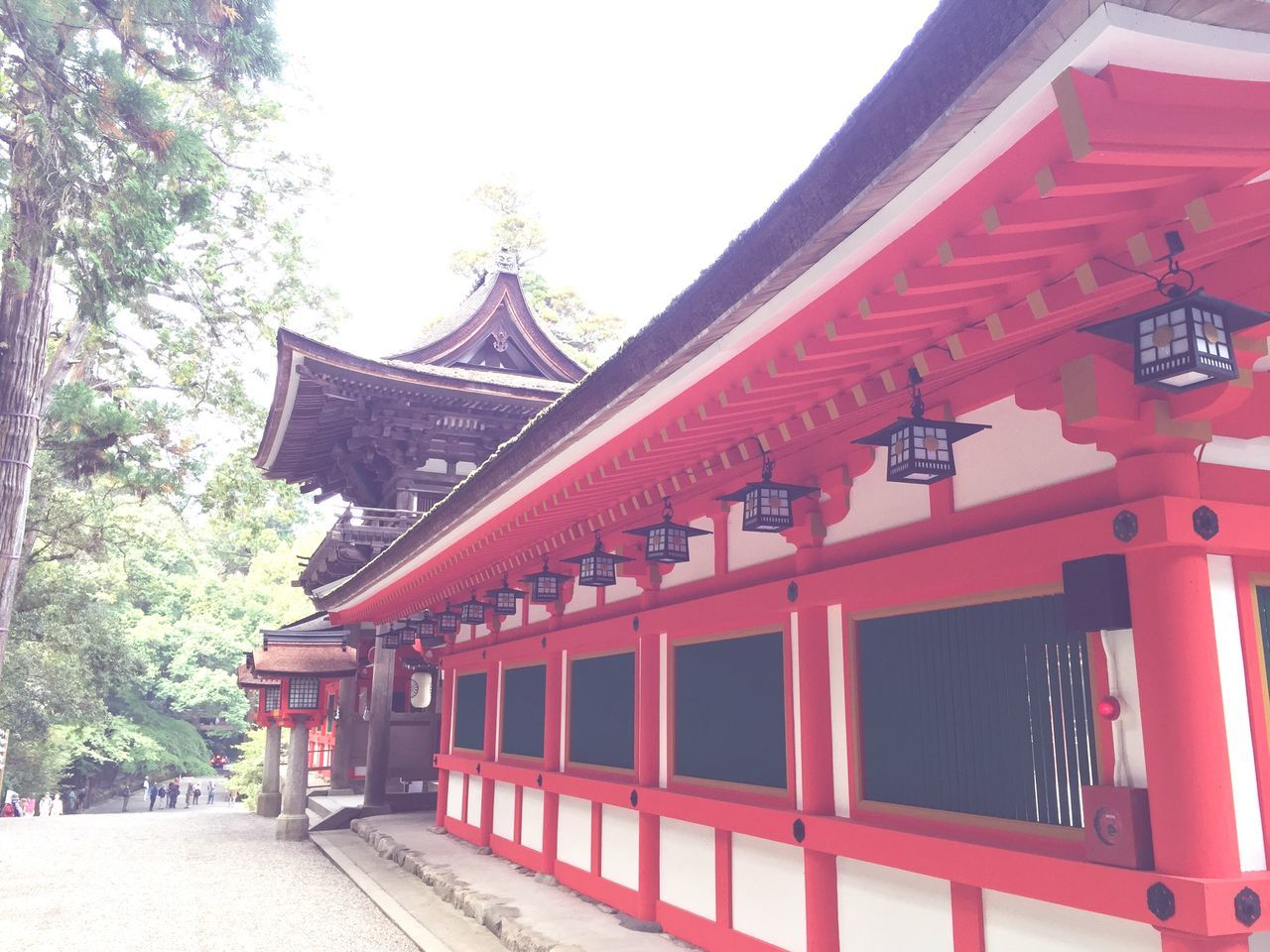 built structure, building exterior, architecture, red, day, no people, place of worship, religion, tree, outdoors, roof, travel destinations, sky
