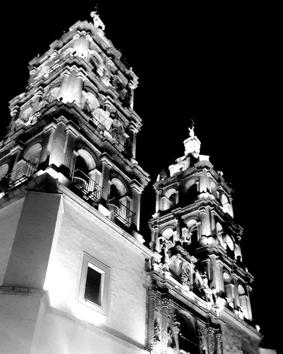 Illuminated Night Architecture City Statue Travel Destinations Mexico Durango, Durango