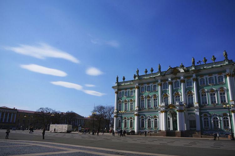2014 Architecture Day Hermitage Museum Outdoors Russia Saint Petersburg Sky Санкт-Петербург エルミタージュ美術館 サンクトペテルブルク ロシア Statue Plaza Museum 冬宮殿