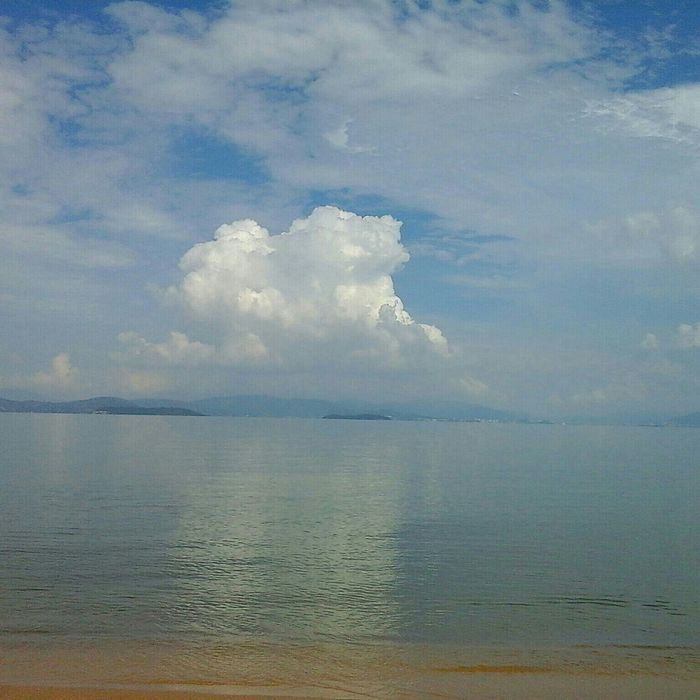 Clouds And Sky Beach Sem Filtro.