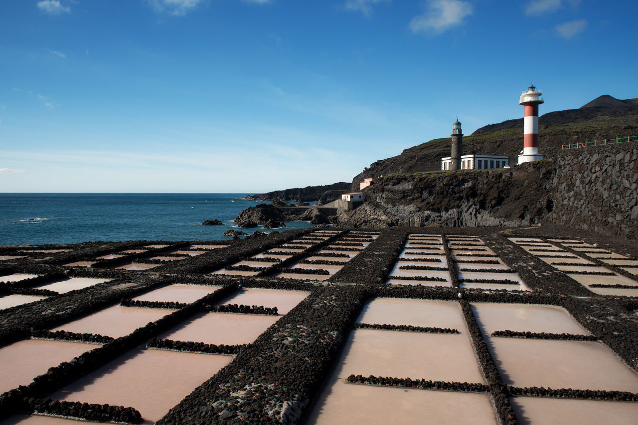 Lighthouse at the very southern tip of La Palma, Canary Island, Spain Canary Islands Composition Horizon Over Water La Palma Lighthouse Lines Ocean Outdoors Perspective Salt Salt Panes Sea Shore Showcase: February SPAIN Tranquil Scene Water