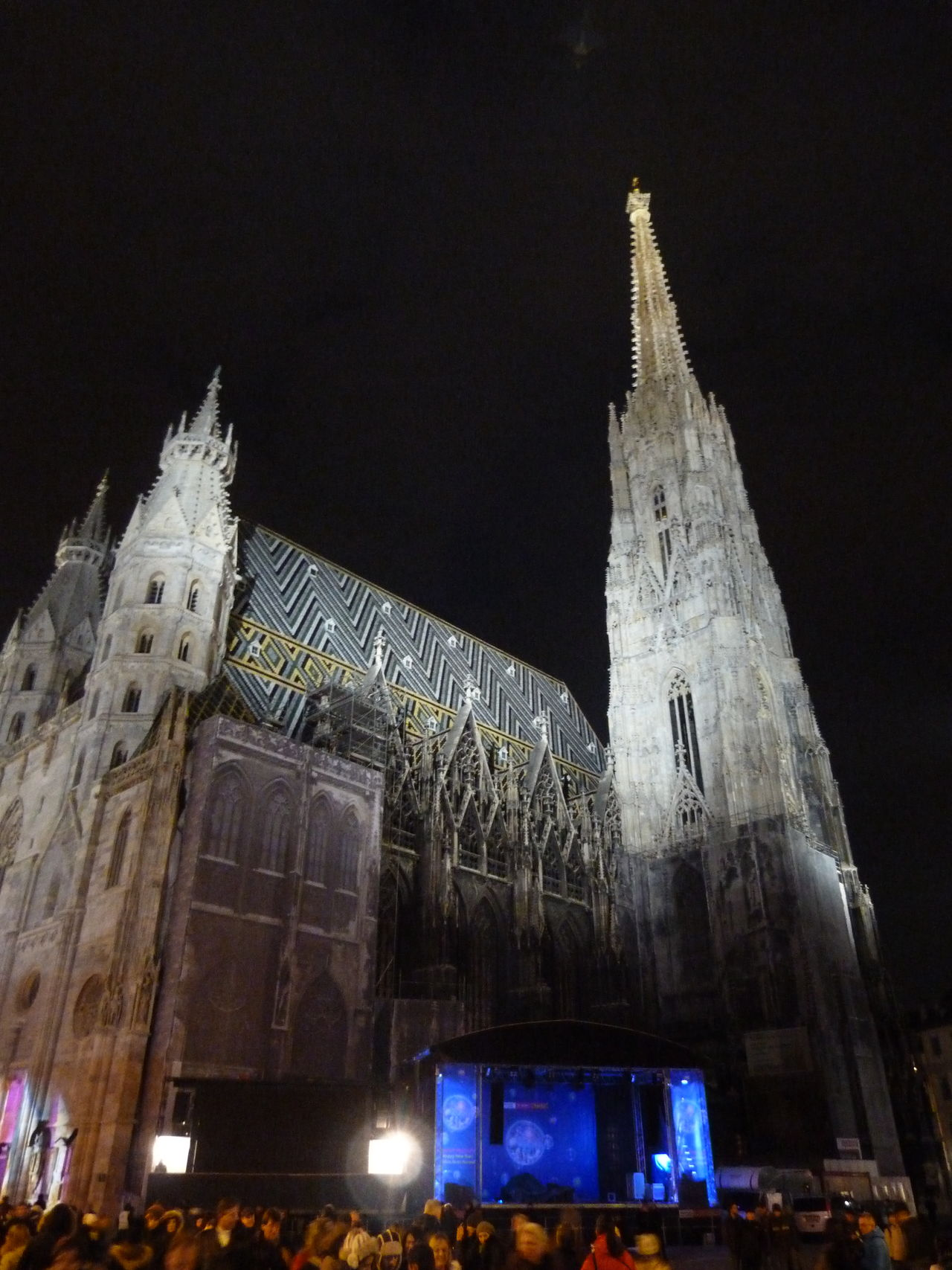 Architecture Night Place Of Worship Low Angle View Travel Destinations City Illuminated Stephansdom Church Vienna Austria Night Photography