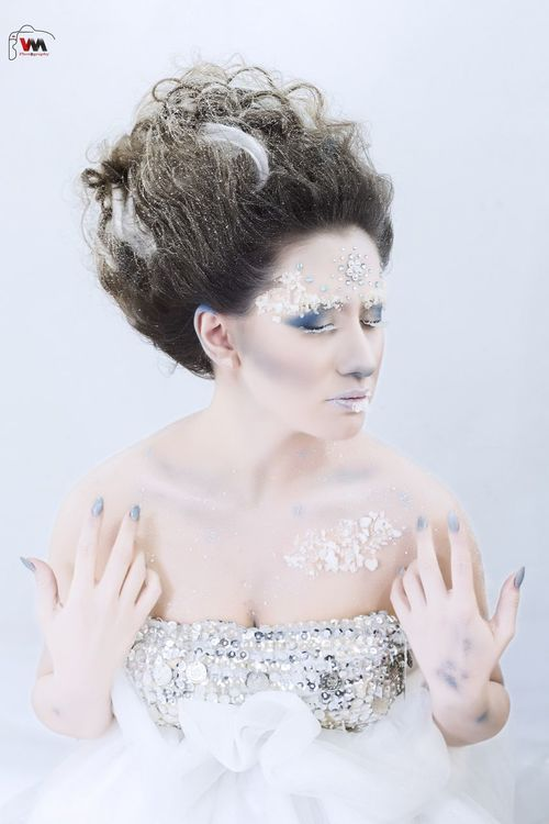 Snow Queen New Look Make Up Cold Winter ❄⛄ Model
