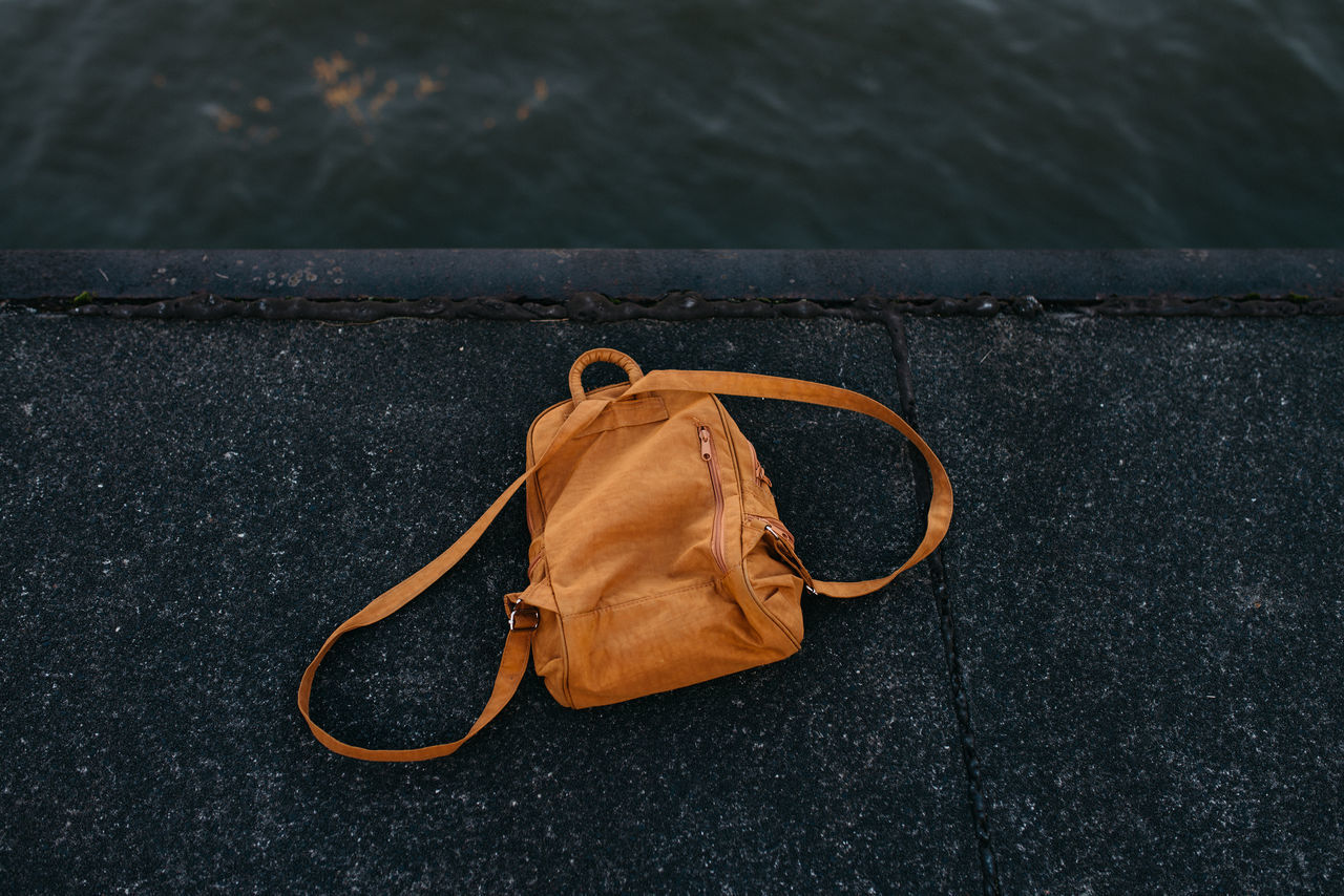 Bag Day Hamburg No People Orange Color Outdoors Peer Water Waterfront