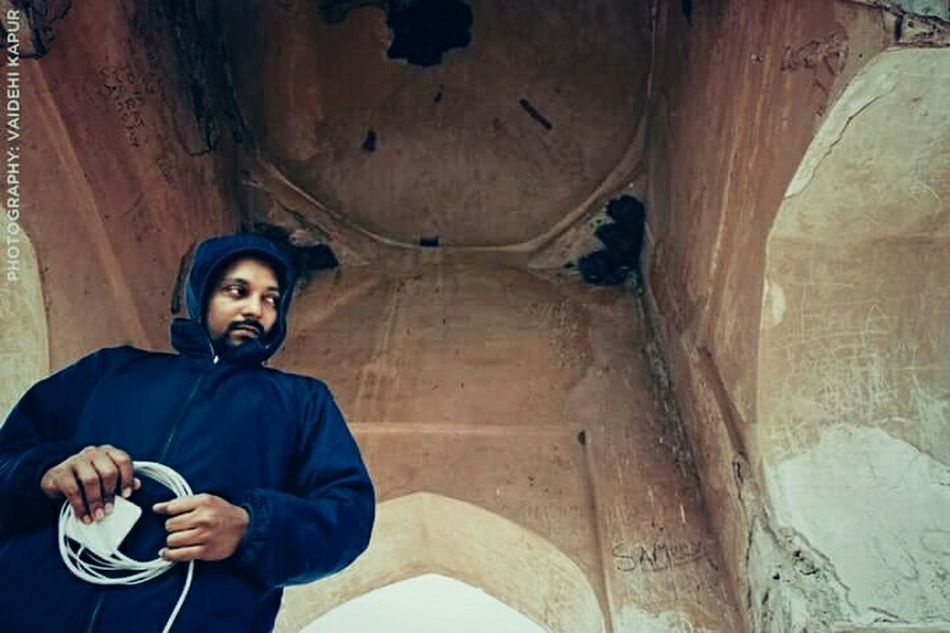 That's Me Wrapping Up my laptop. At Amer Fort Jaipur Rajasthan Incredible India Portrait Of A Man  EyeEm Man Picturing Individuality