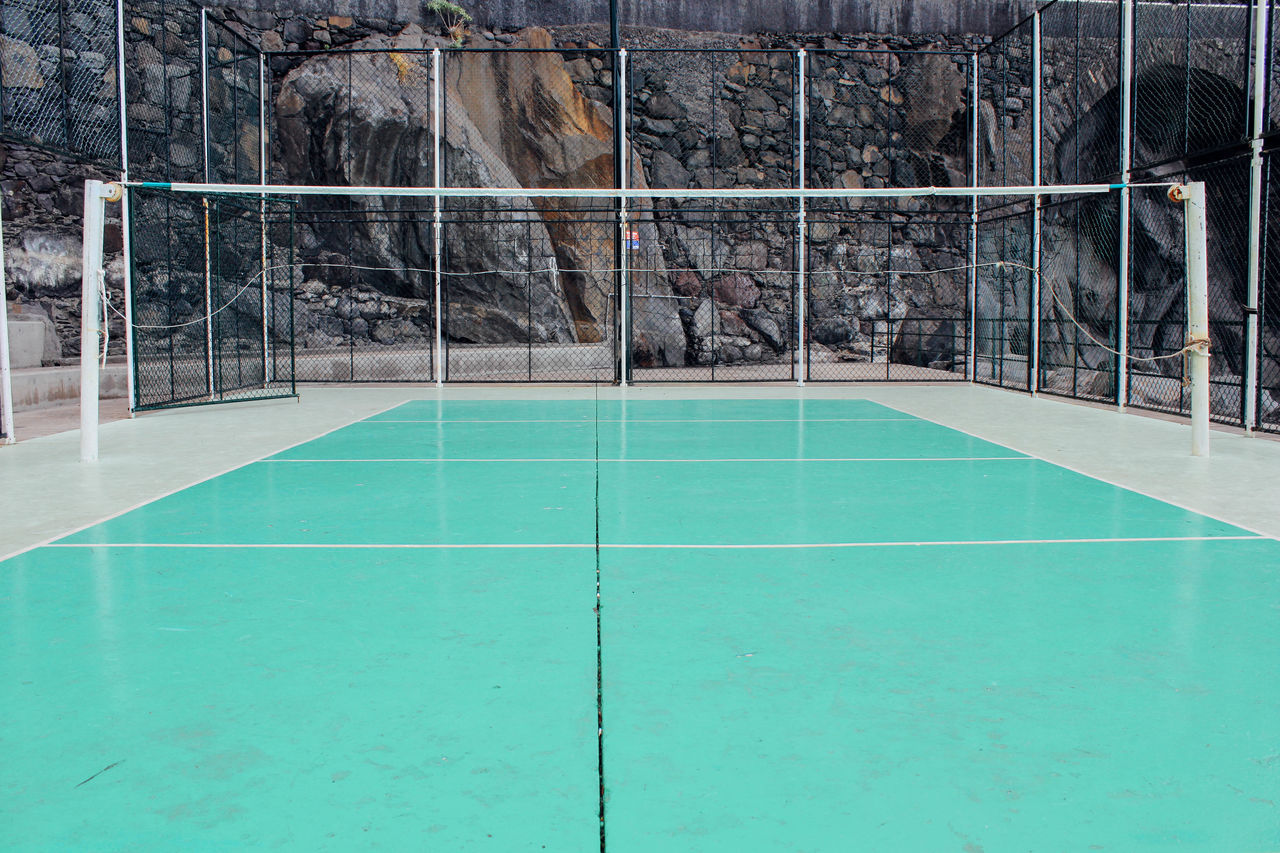 Abandoned Abandoned Places Absence Concrete Empty Fence Green Metal Net No People Outdoors Outside Sport Tennis Tenniscourt Travel VSCO Vscocam