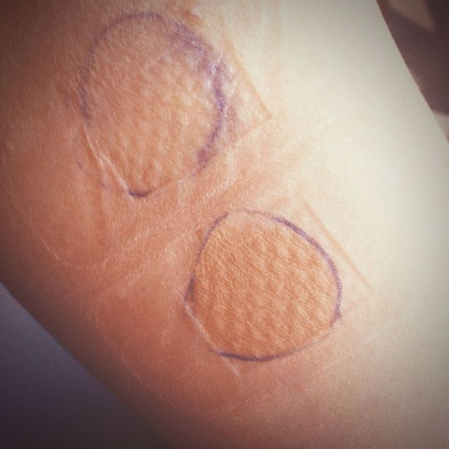Home made allergy test