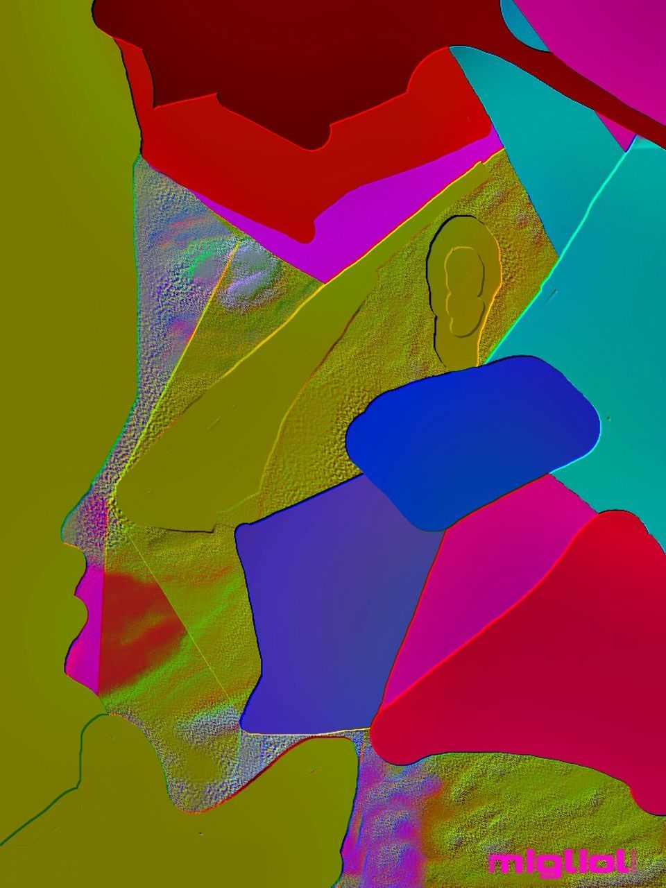multi colored, abstract, variation, studio shot, no people, red, close-up, day, outdoors