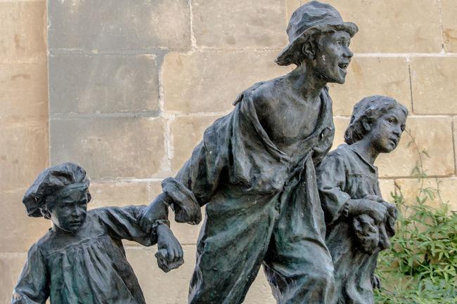 Antoino Sciortino Dramatic Angles Le Miserables National Landmark Poor Children Sculpture Statue Victor Hugo