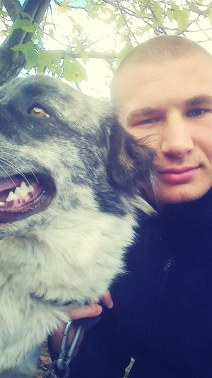 With my dog on a morning walk :) Goodmorning :)