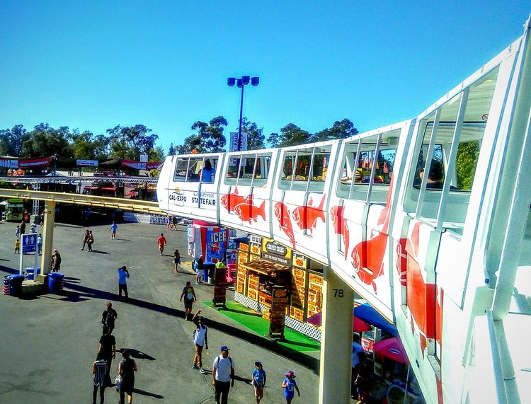 Monorail Train View Monorail  Amusement Ride My Photography And Edit California State Fair Sacramento, California On The Way Showcase July Taking Photos ❤ This Week On Eyeem Motion Photography People Photography People Walking  People Together On My Way