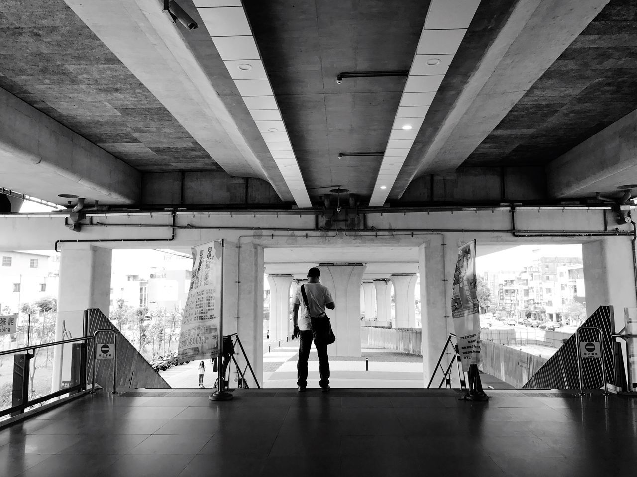 Waiting For A Train 🚂   Blackandwhite Candid Commuter At The Train Station Neighborhood Map Urban Landscape The Street Photographer - 2017 EyeEm Awards