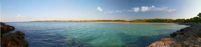 Beach Blue Panorama Menorca