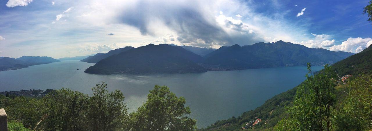 Panoramic Lago Maggiore Paisaje