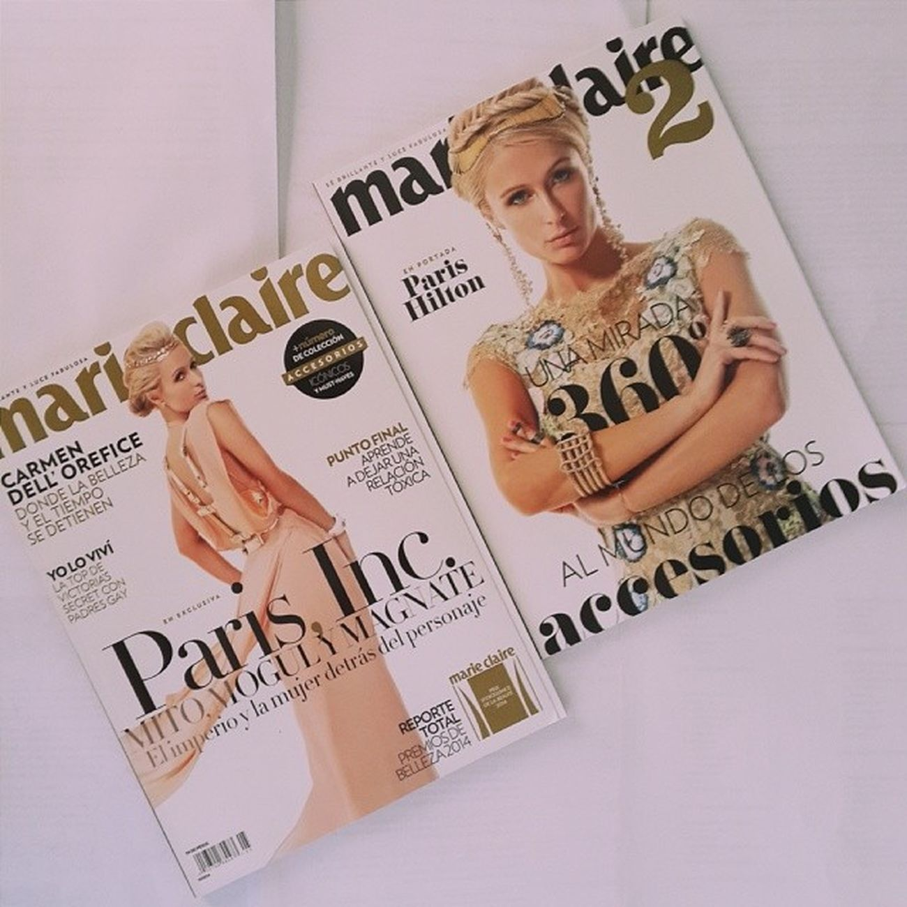 "A Goddess in a Bible . ? ""Mito , Mogul y magnate"". @ParisHilton doubleedition marieclaire2 issue fab magazine flawless"