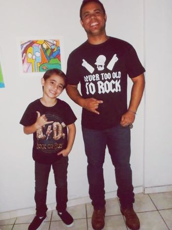 Eu e meu bb indo pro um show RockandRoll Thrashmetal
