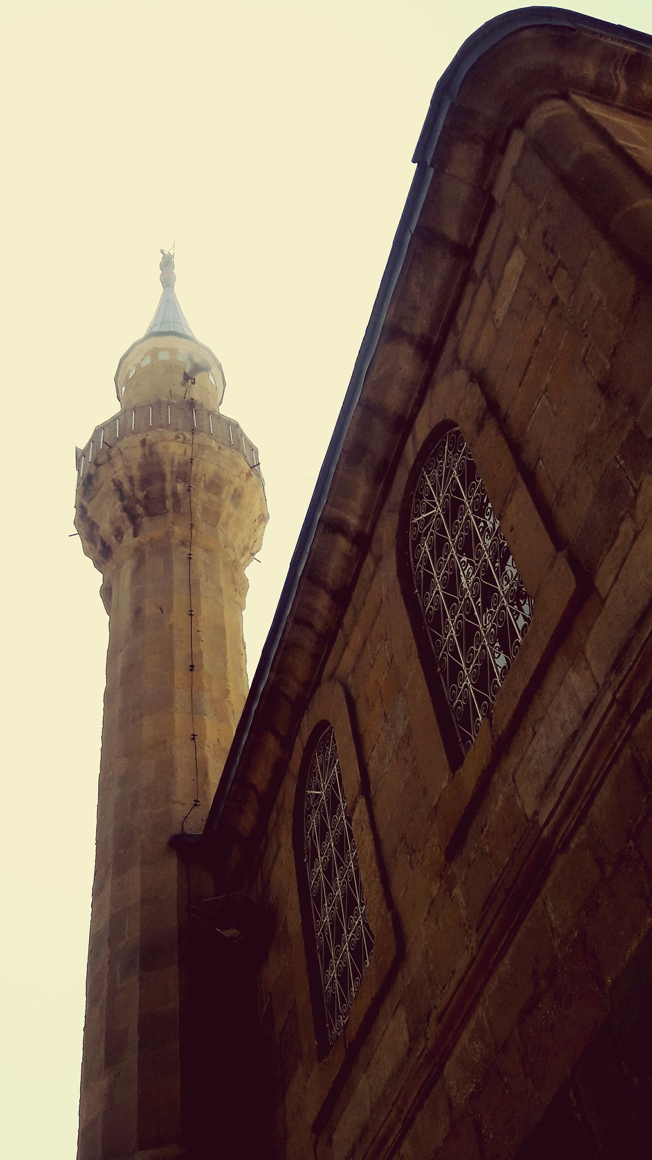 Vintage1 Mosque Minaret Cami Minare Tarihicamii Çorum City Mimari Pry Architecture History Travel Destinations No People