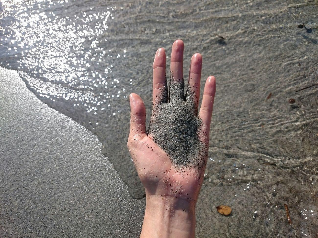 Anawangin AnawanginCove Zambales Mtpinatuboashes Beach Sand Gray Hand People Of The Ocean Feel The Journey