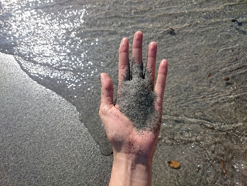 Anawangin AnawanginCove Zambales Mtpinatuboashes Beach Sand Gray Hand People Of The Ocean Feel The Journey