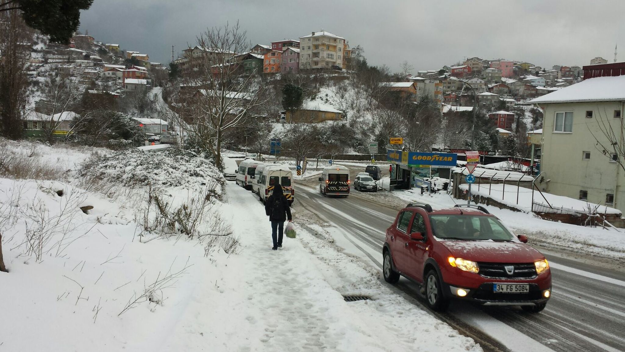 It's Cold Outside not easy to walk but funny 😂 Happynewyear2016 Happynewyear Cold Snow ❄ Greetings Fromistanbul Love ♥