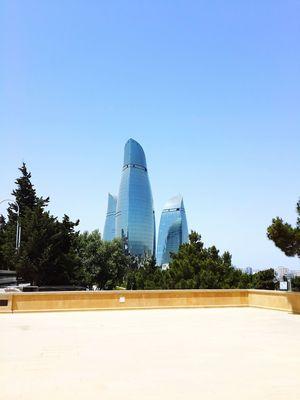 Baku Flametowers Flame Towers