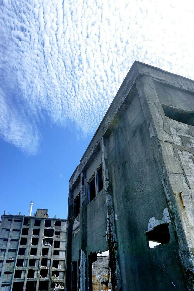 軍艦島 軍艦島(gunkan-jima) 端島 世界文化遺産 空 雲
