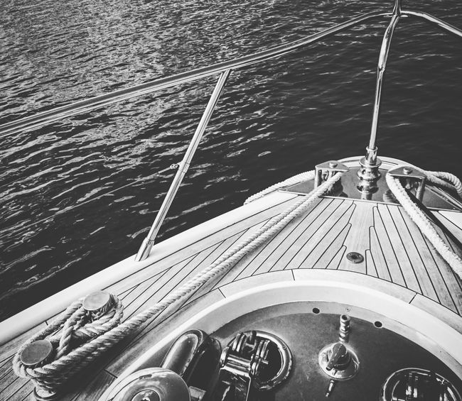 Boat Yatchs Yachting Photography Marinaphotography Sea Mediterranean Sea Yatch Life MaterialsWood Enjoying Life Travelling French Riviera Bouts At The Front Like Titanic Blackandwhite Taking The Sun  Week End Nautic Photography