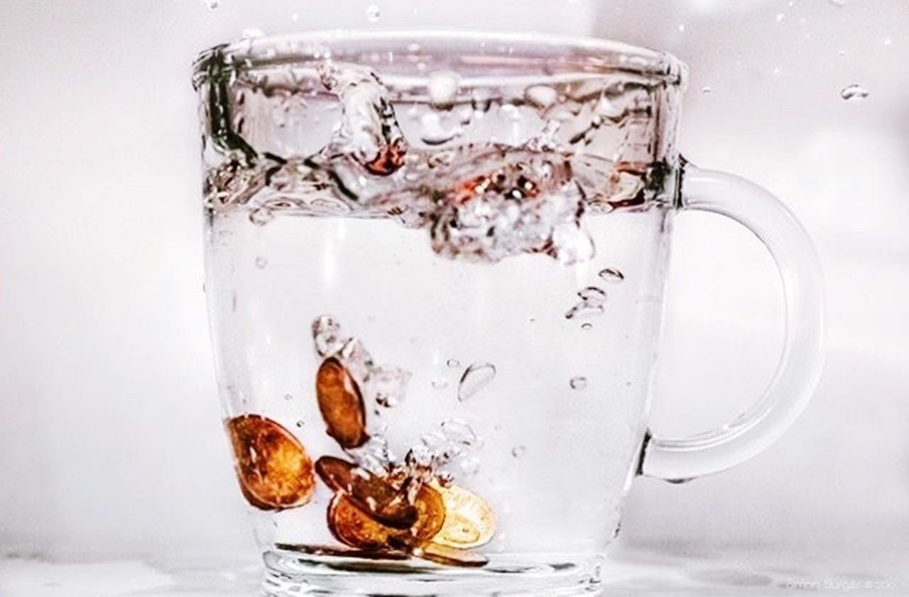 drink, refreshment, no people, drinking glass, close-up, cold temperature, freshness, white background, day
