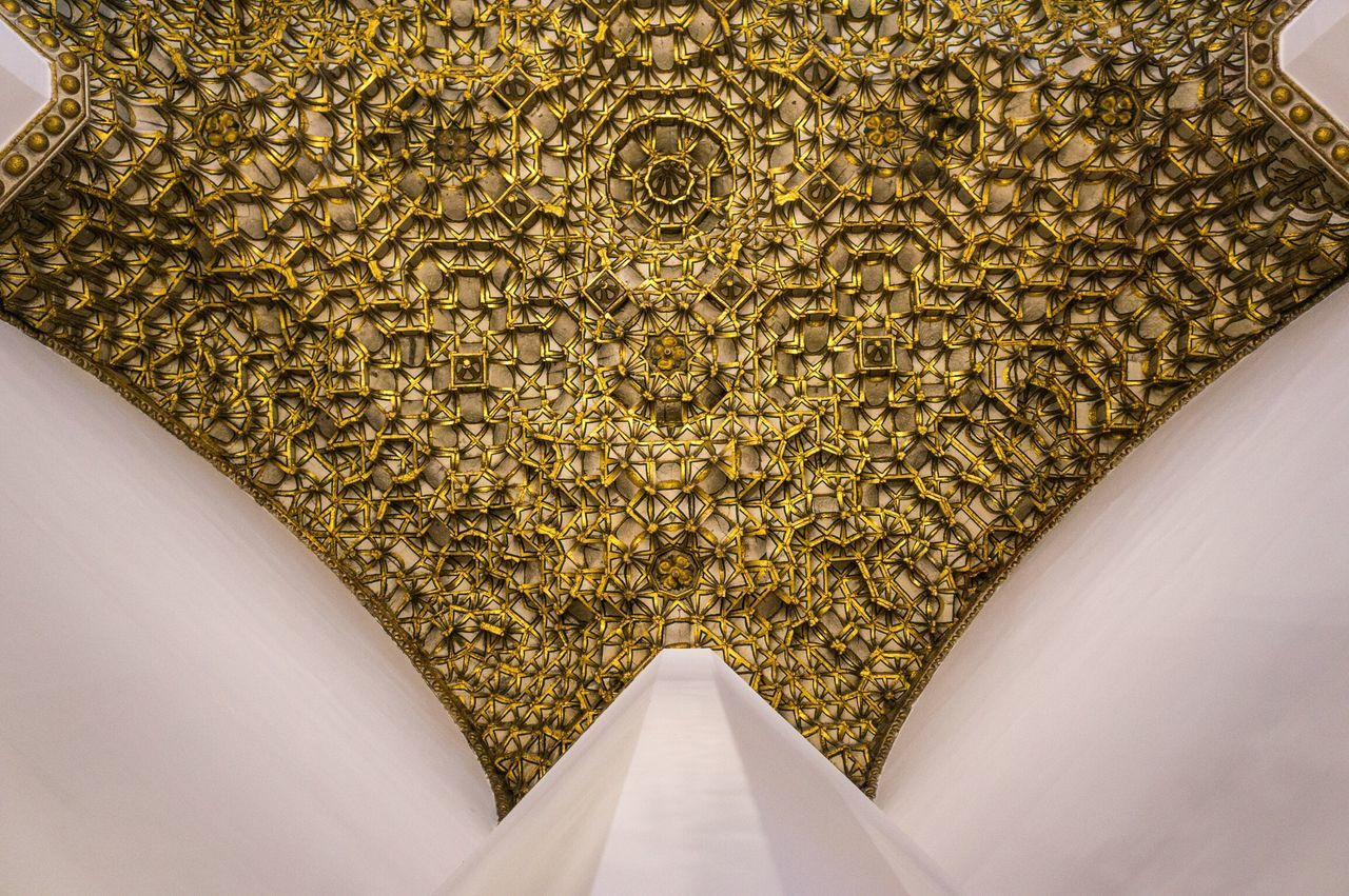 Cathedral Toledo SPAIN España Ceiling Lookingup Gold Pattern