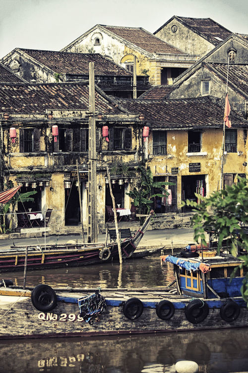 Hoi An , VIetnam Asia Architecture Bridge - Man Made Structure Building Exterior Built Structure City Day Hoi An Hoi An Unesco Weltkulturerbe World Heritage Hoi An, Vietnam Mode Of Transport Nautical Vessel No People Outdoors Sky Transportation Travel Destinations Travel Photography Travelphotography Water
