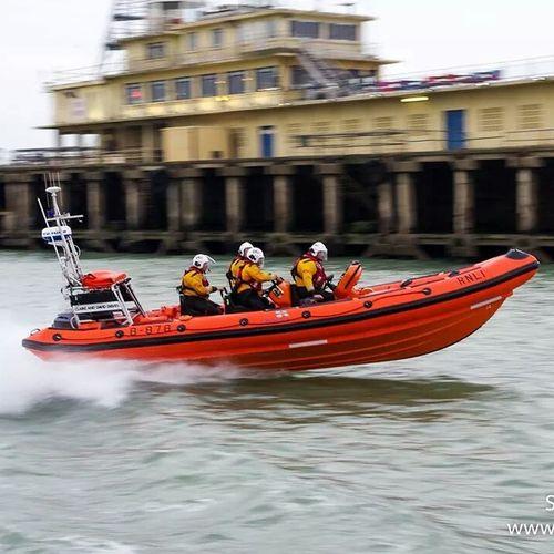 Lifeboat RNLI Nautical Vessel Teamwork Headwear Boating Sea Ramsgate Harbour Speed Activity Adventure HERO Resque Service