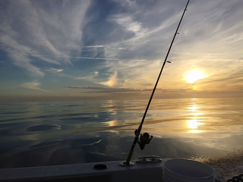 Sunset Gulf Of Mexico Boat Fishing