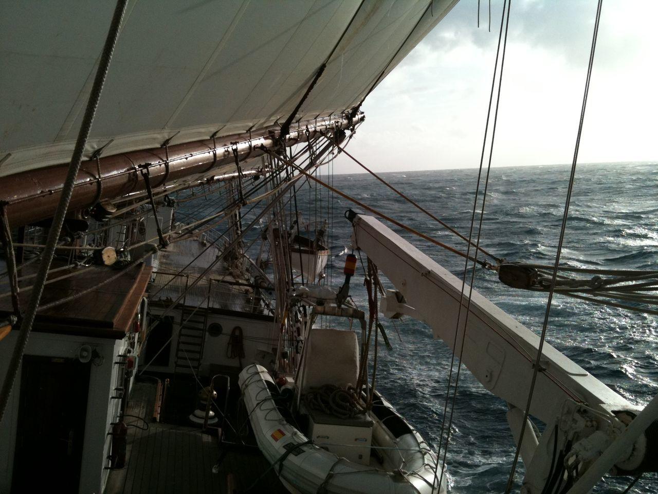 Sailing... Cloud Cloud Cloud - Sky Clouds And Sky Day Elcano Juan Sebastian De Elcano May 2016 Navy No Filter No Edit Outdoors Rough Sea Sail Boat Sail Boats Sea Sea And Sky Sky Spain♥ Wind Wind Sailing