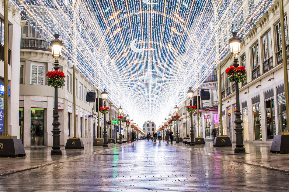 Larios Street Architecture City Day Lights No People Outdoors Panoramic Travel Destinations Traveling