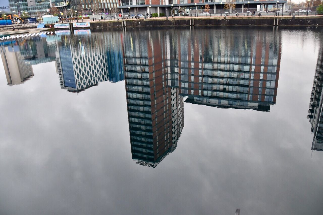 Urban reflections. Sky No People Architecture Building Exterior City Outdoors Built Structure Day Cloud - Sky Urban Landscape Eyeem Community Urban Reflections Modern Architecture Skyscraper EyeEm Gallery EyeEm EyeEm Best Shots Architecture Photography EyeEm Masterclass Modern Buildings Reflections Getty X EyeEm Architecture Buildings Water Reflections