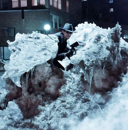 Ice Cowboy Boston Blizzard Cosplay Hanging Out Superhero