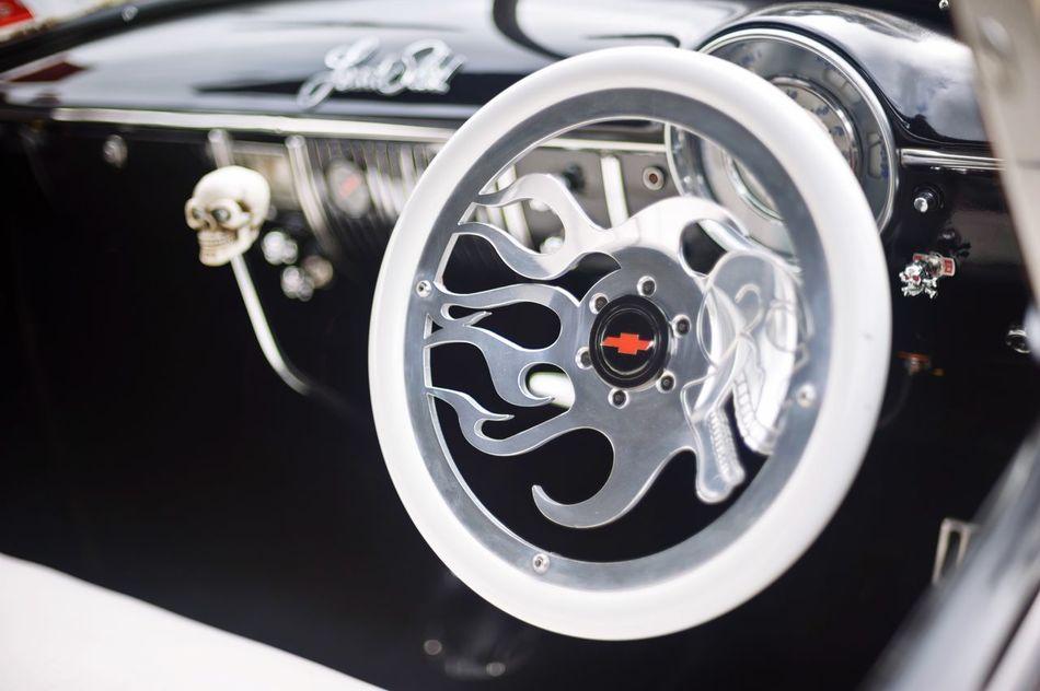Skulls n Flames Dashboard Custom Chrome Dashboard HotRod Skull Flames Steering Wheel Chevrolet