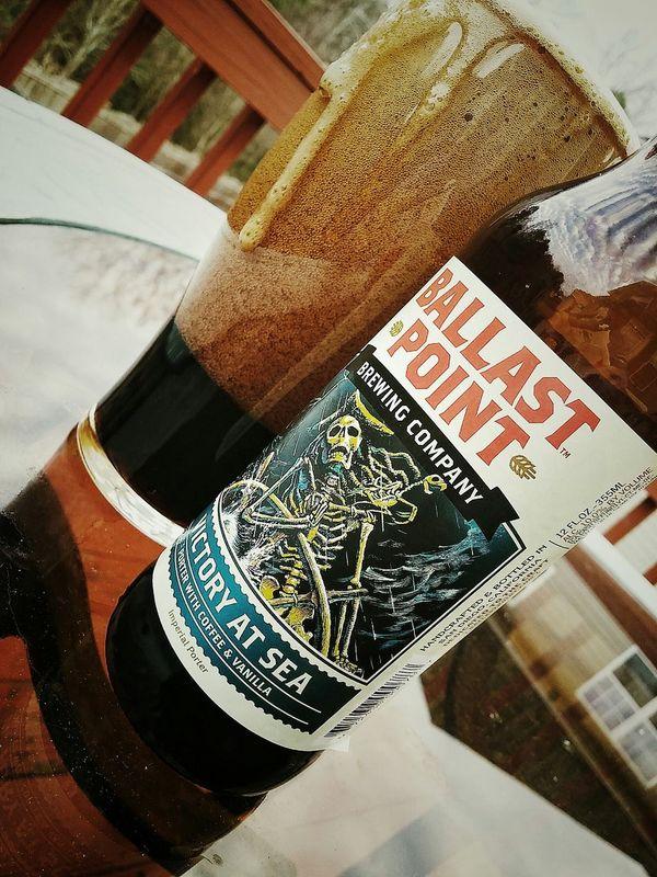 Drink up me hearties, yo ho! Yo ho, yoho, a pirate's life for me! BallastPoint Craftbeer Beergeek Lyricalmadness Decklife Cheers
