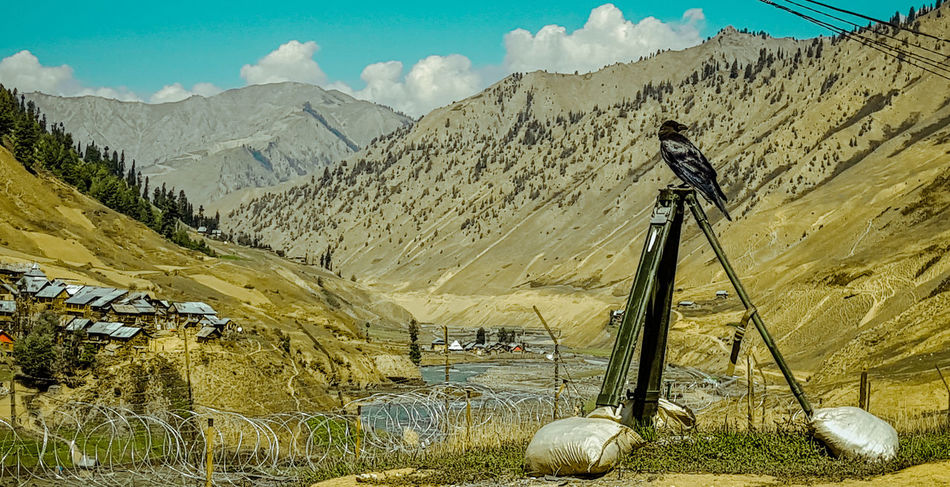 Landscape Nature Mountains Lone Bird Valley View Kashmir Gurez Outdoors Travelling